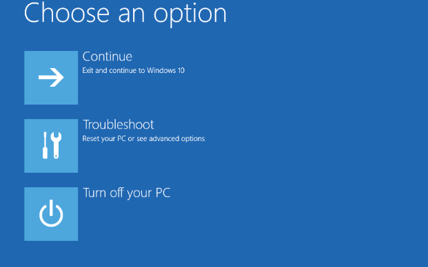 Choose Advanced repair Option to Windows BSOD Troubleshoot