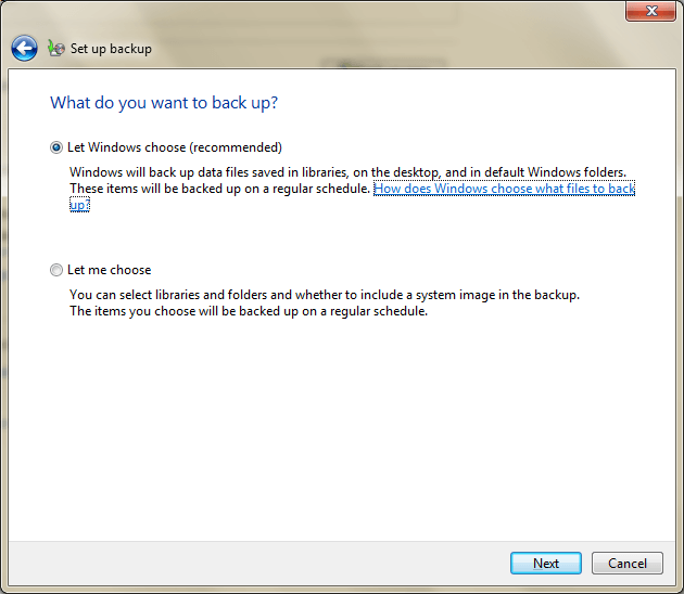 How to backup Windows 7 files-1