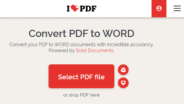 Find a PDF to Word converter online-1