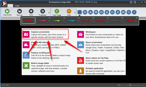 ScreenPresso- best free snipping tools for windows