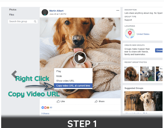 Tips to download Facebook Private Videos VIA FBdown