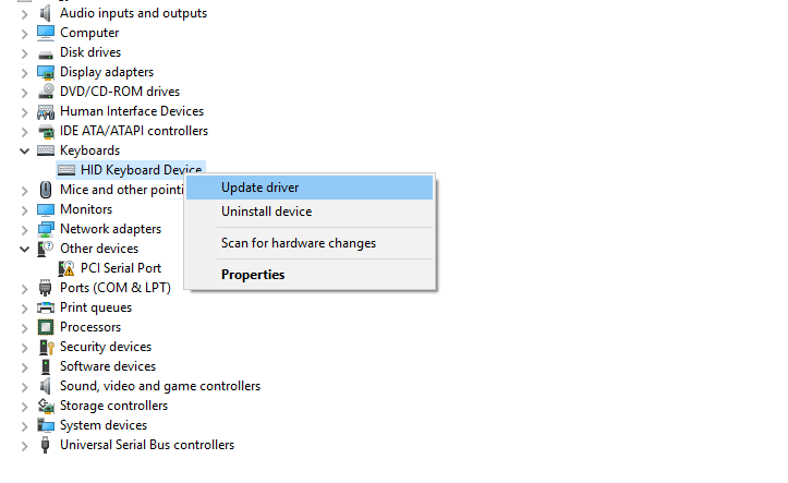 Update Drivers using Device Manager Manually