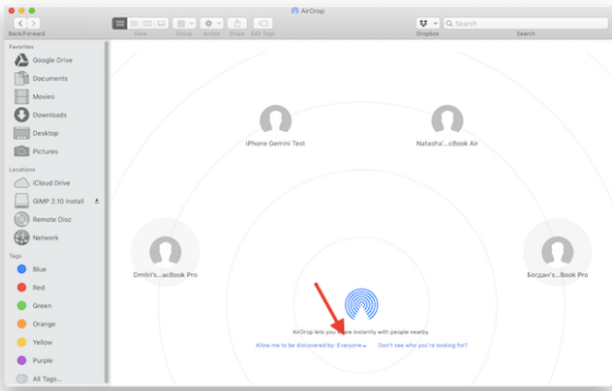 Using AirDrop to Import/Download Photos from iPhone to Mac