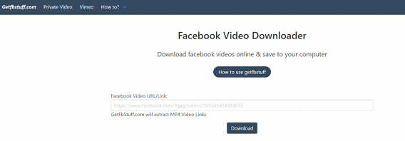 Getfbstuff Facebook Video Downloader