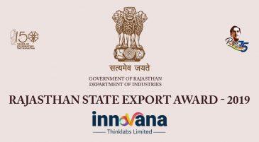 INNOVANA Bags Rajasthan State Export Award 2019