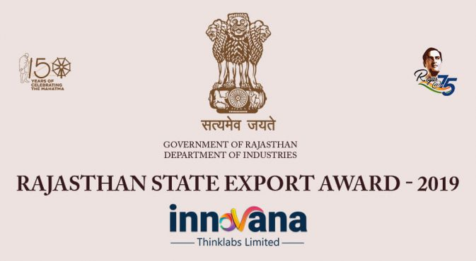 INNOVANA Bags Rajasthan State Export Award 2019