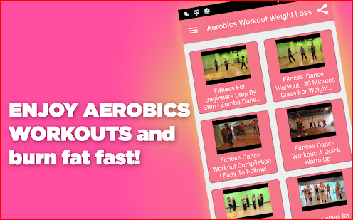 Aerobics dance workout for weight loss