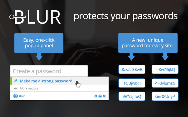 BLUR - Best Google Chrome Security Extensions