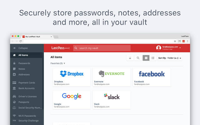 lastpass - Google Chrome Security Extension 2020