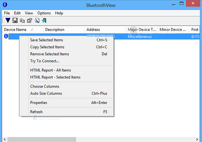 Bluetooth View