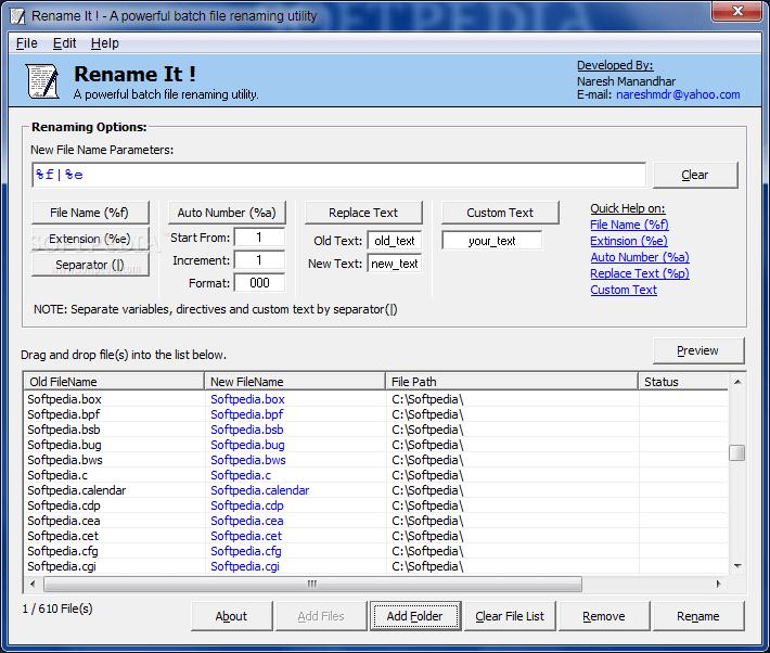 File Renamer Basic