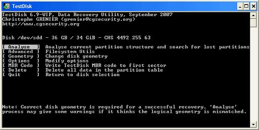 TestDisk for Mac- Data Recovery Software Free Mac