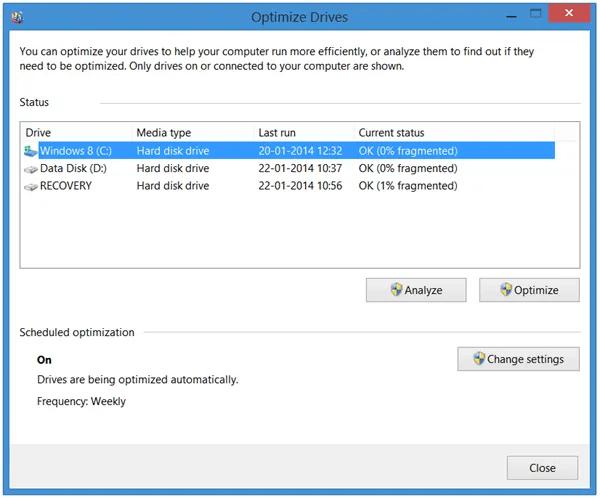 Windows Disk Defragmenter- Built-in Disk Defragmenter Program