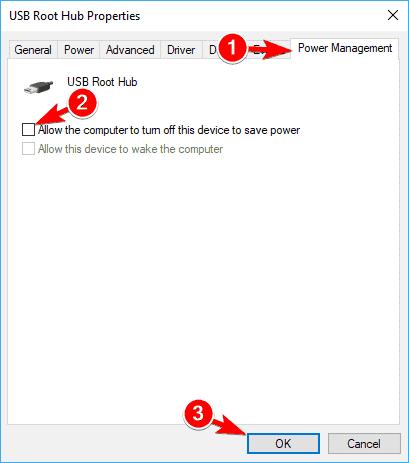 Fix the USB root hub-2