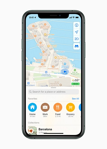 Apple Rolls Out a new redesigned map for All Users in the USA-3