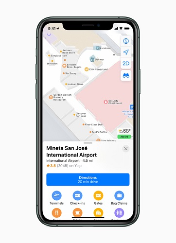 Apple Rolls Out a new redesigned map for All Users in the USA-4