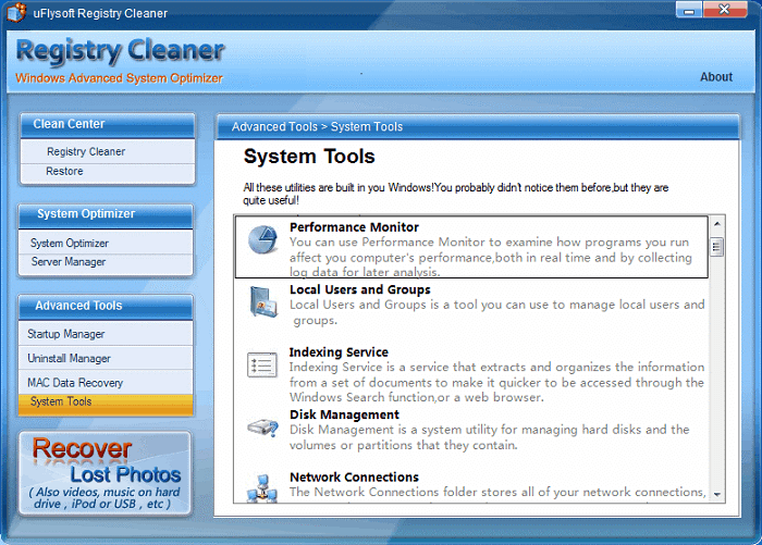 uFlysoft Registry Cleaner