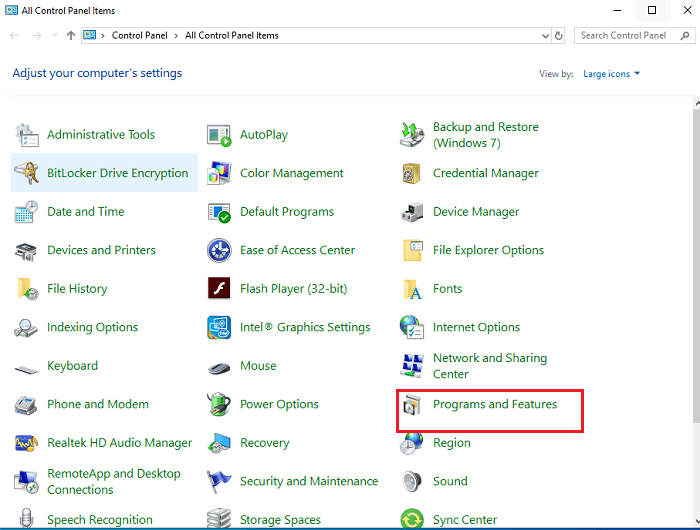 Remove NVIDIA drivers using Control Panel-1