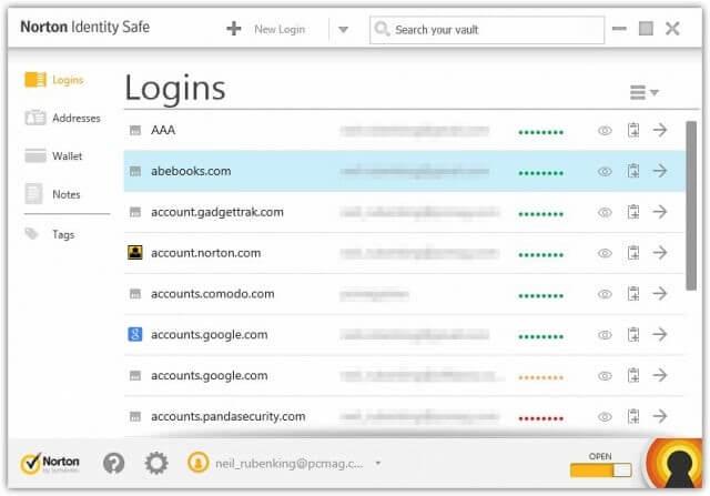 Symantec Norton Identity Safe