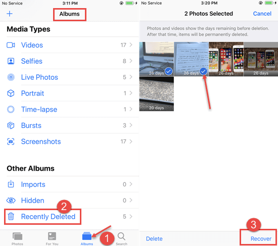 How to Find Recently Deleted Photos on iPhone