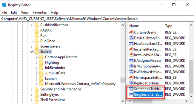 Disable the Bing integration-1
