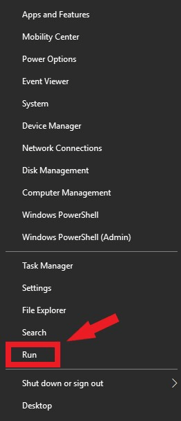 Turn On IDT Audio Services - Right Click Start Menu and Select run