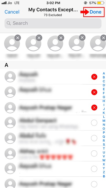 Steps to hide WhatsApp status from some contacts-1