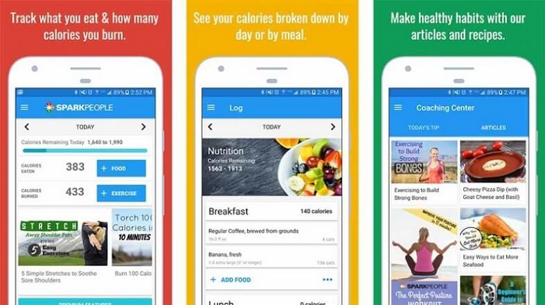 SparkPeople Calorie Tracker