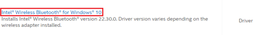 Download the Bluetooth Driver