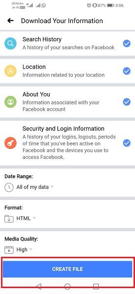 Download Information of Your Facebook Account-4