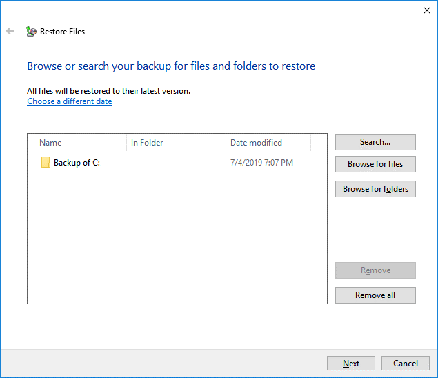 Use Windows 10 backup-5