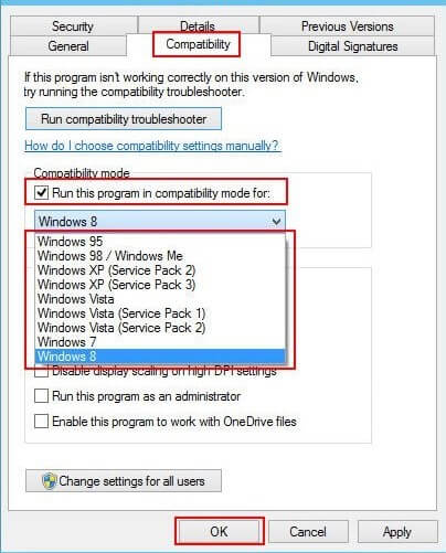 Install the IDT high definition audio CODEC driver in compatibility mode
