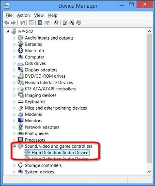 Install the IDT high definition audio driver again with Device Manager-1