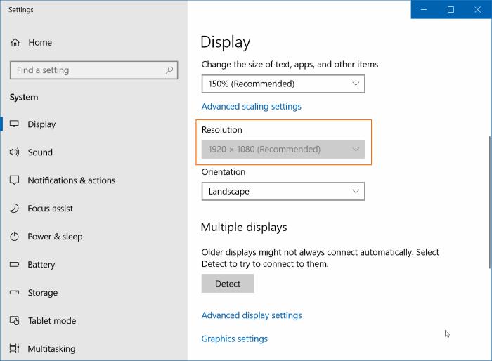 Change the display resolution settings-2