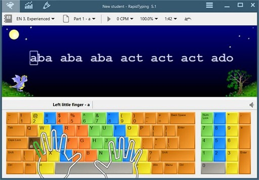 Rapid Typing Tutor- best free typing software