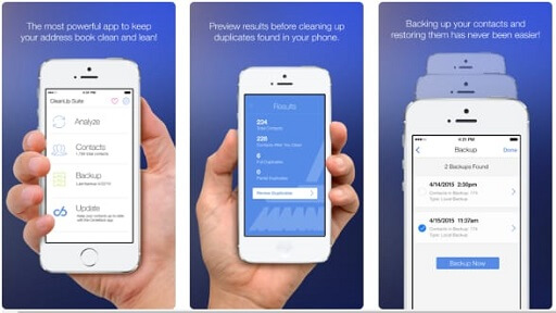 Cleanup Duplicate Contacts- app to remove duplicate contacts on iPhone