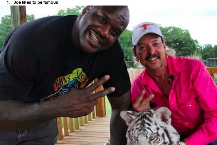 Shaq and Joe Exotic are not friends