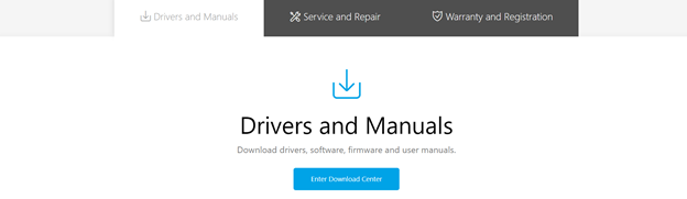 ASUS driver download center