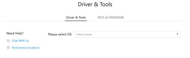 Select the Windows OS