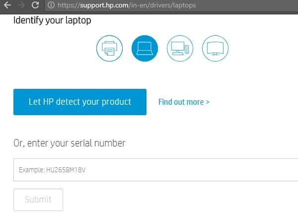enter HP Envy device model