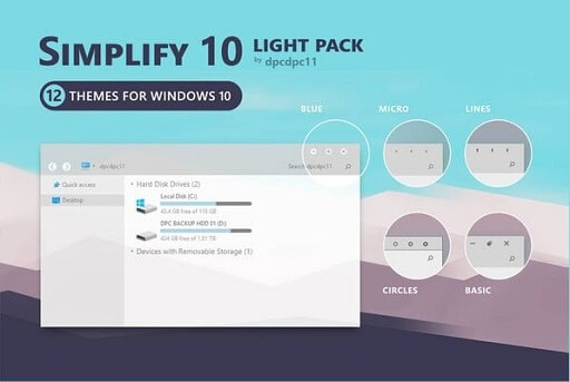 Simplify 10 - the cleanest Windows 10 themes