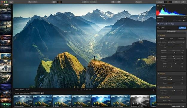 Luminar pro photo manager