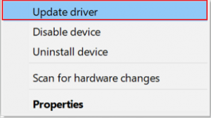 Update Latest beat Driver Using Windows Device Manager