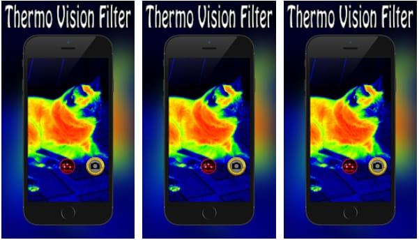 Thermal Night Vision Camera Effect Simulated