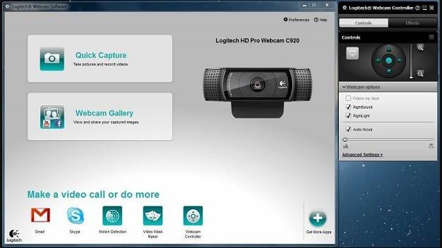 logitech webcam apps