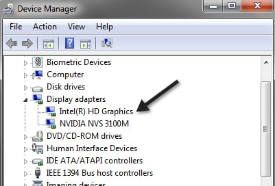 After Device Manager opens then expand the Display Adapters category