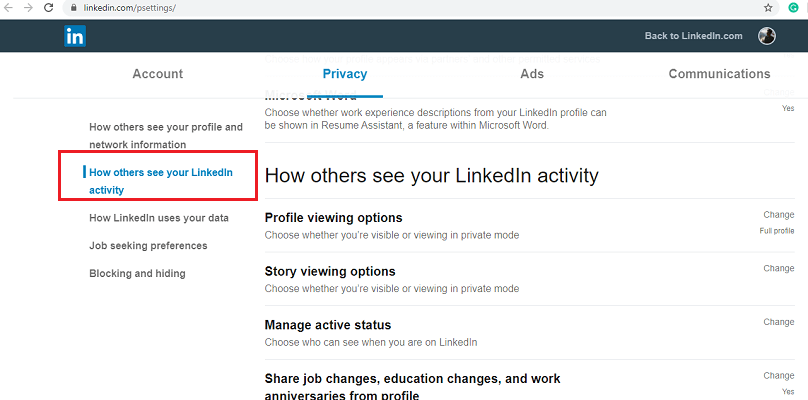 view a LinkedIn profile as anonymous-2