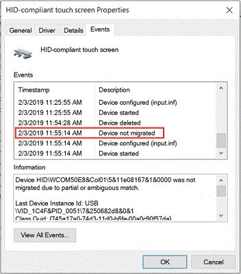 Device Not Migrated Error