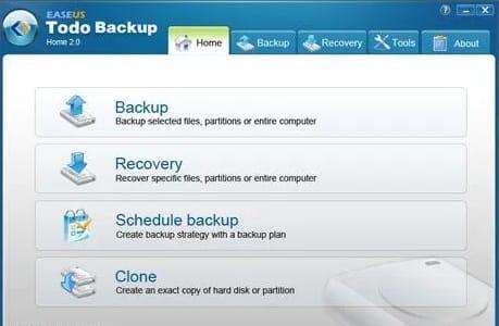 EaseUS ToDo Backup tool