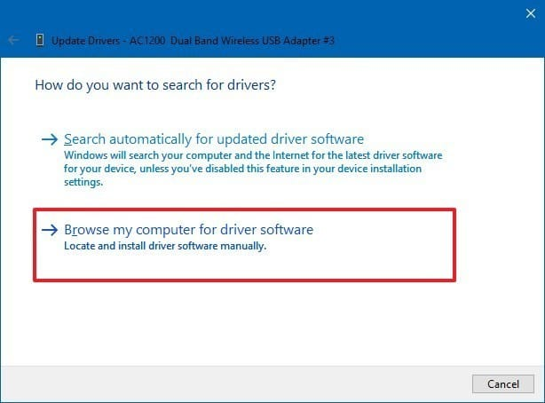 select let me pick from a list of device drivers on my computer